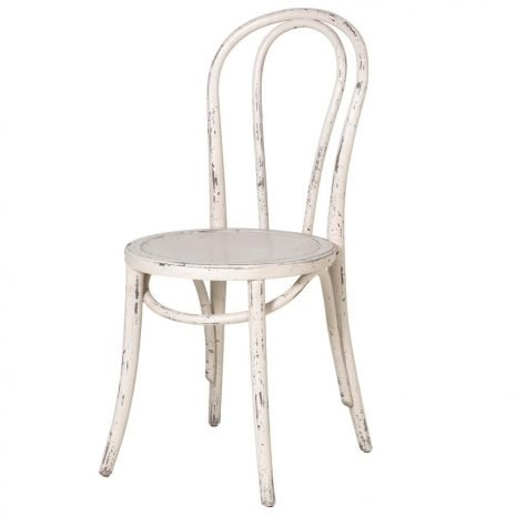 White Distressed Dining Chair