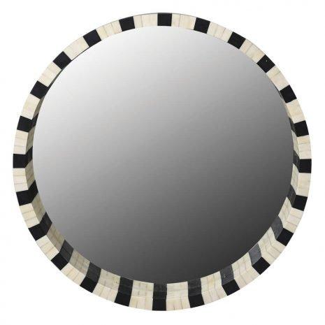 Bone Porthole Mirror