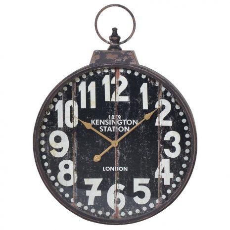 Black Distressed Kensington Clock