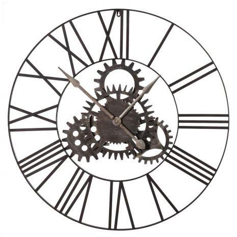 Cogs Metal Clock