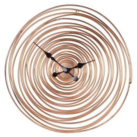 Copper Swirl Wire Clock