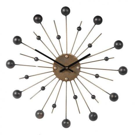 Gold Spike Wall Clock