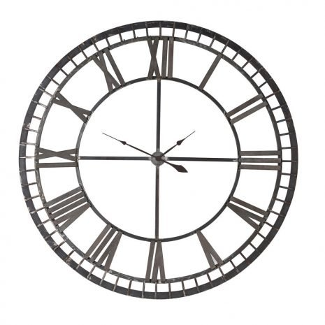 Iron Roman Numerals Clock