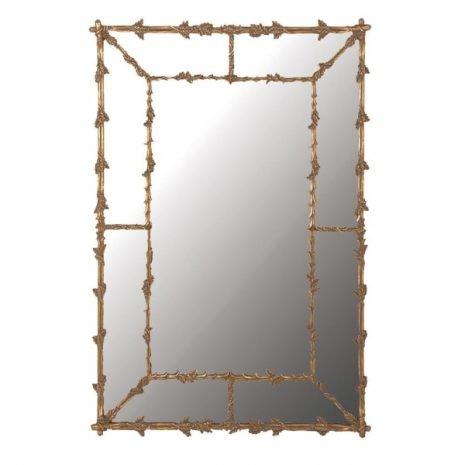 Large Oak Leaves Gilt Mirror