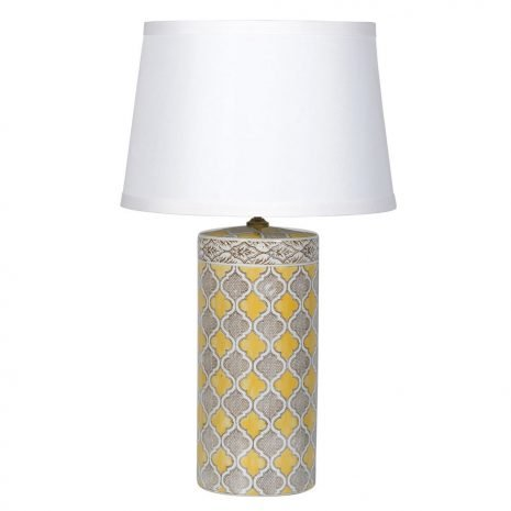 Yellow and Grey Pattern Lamp