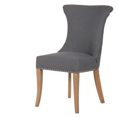grey stud chair