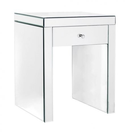 mirrored one drawer sidetable