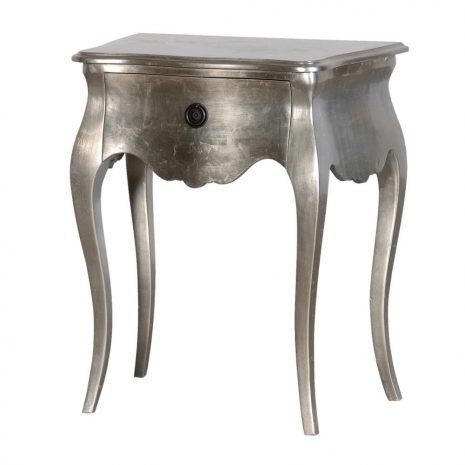 silver sidetable