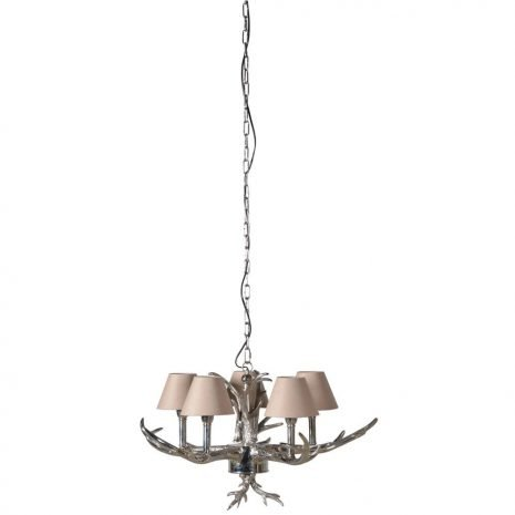 Antler Chandelier with Small Shades