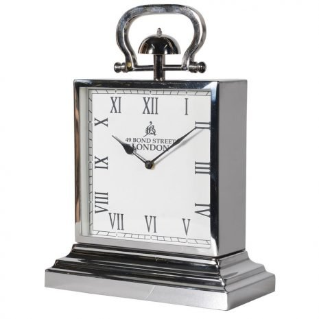 Bond Street Steel Mantel Clock