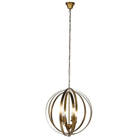 brass sphere pendant
