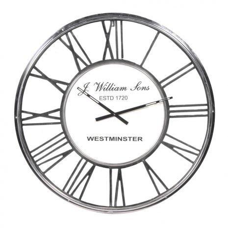 Chrome Westminster Clock