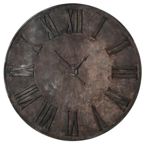 distressed iron wall clock