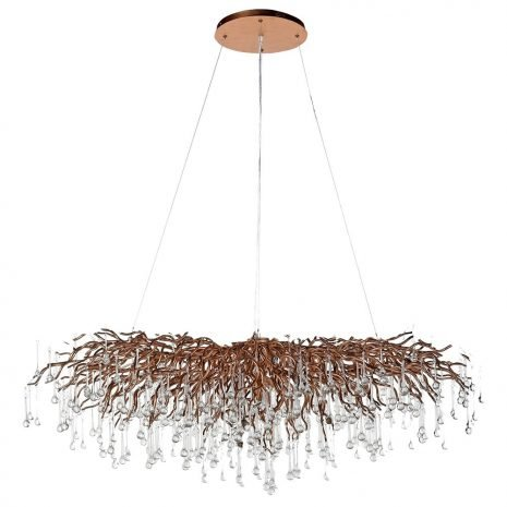 droplet branch chandelier