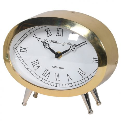 golden nickel table clock