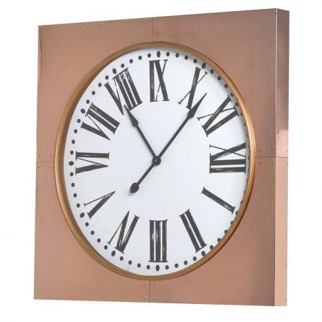 Large Copper Frame Clock