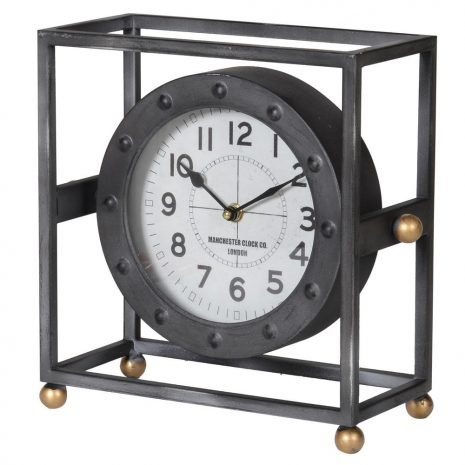 Metal Frame Mantel Clock