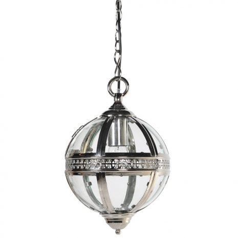 nickel and glass ball pendant