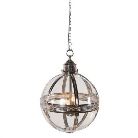 silver glass ball lamp
