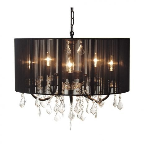 black shade chandelier