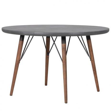round grey table