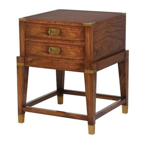 melia wood sidetable