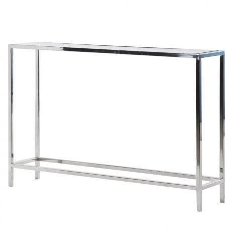 slim steel console