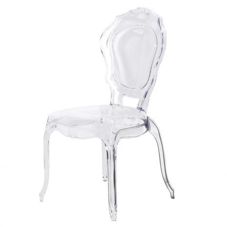 clear french dining chair
