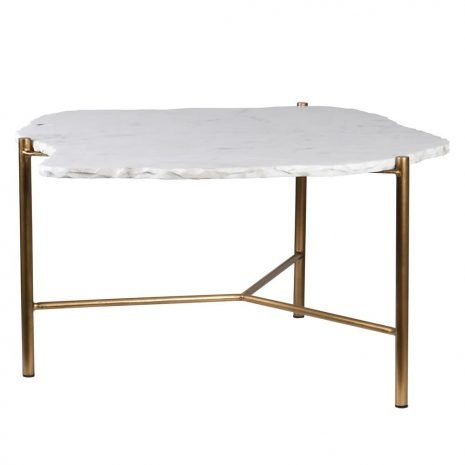 coffee table with white stone top