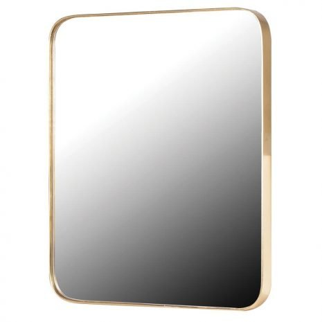 gold frame rectangle mirror