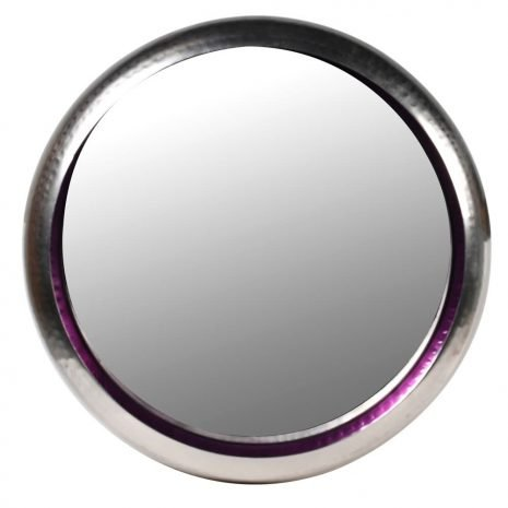 large purple wall mirror