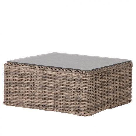 rattan square coffee table