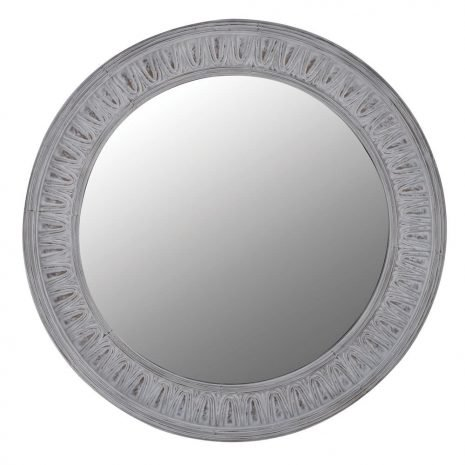 round patterned wall mirror