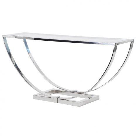 semi-circle steel console