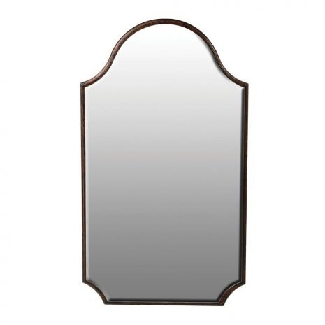 shaped frameless wall mirror
