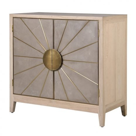 sunburst washed oak sideboard