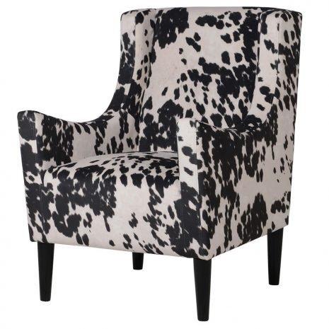 faux cow hide chair