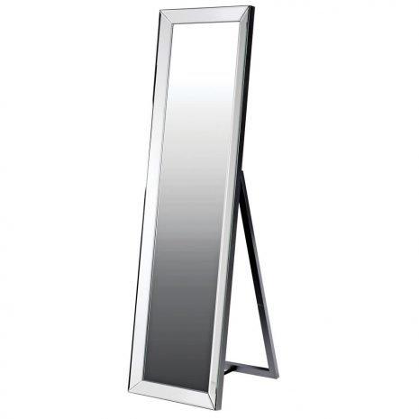floor standing silver mirror