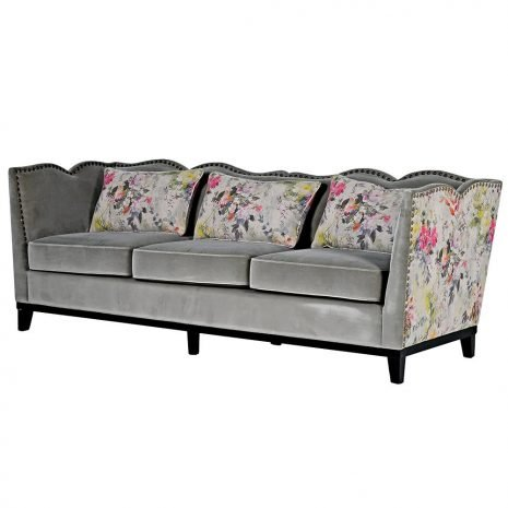 floral studded sofa 3 seat