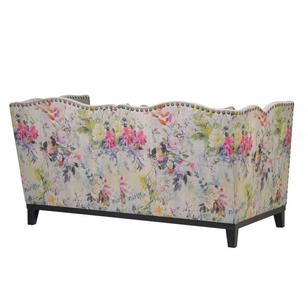 Floral Studded Sofa 2 seat 1