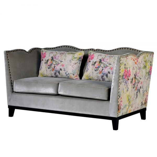 Floral Studded Sofa 2 seat