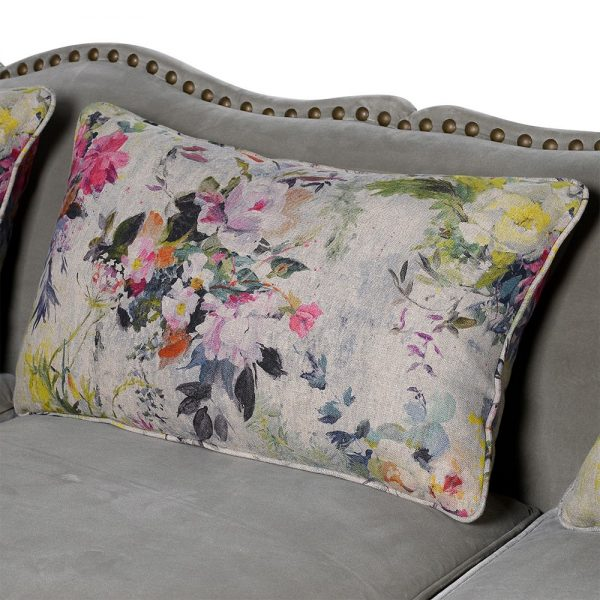 Floral Studded Sofa 3 seat 1
