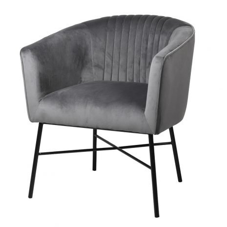 grey lined occasional chair