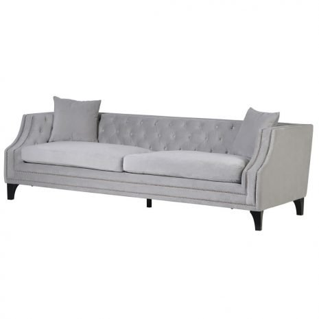 pale button and stud sofa