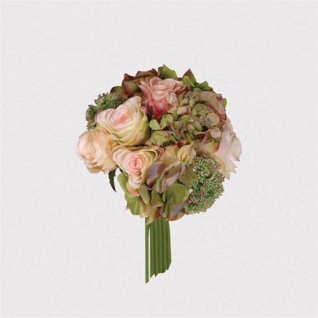 rose and hydrangea posy