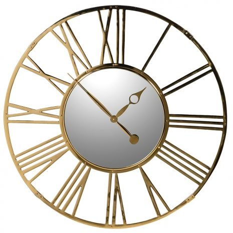 large gold numeral wall clock