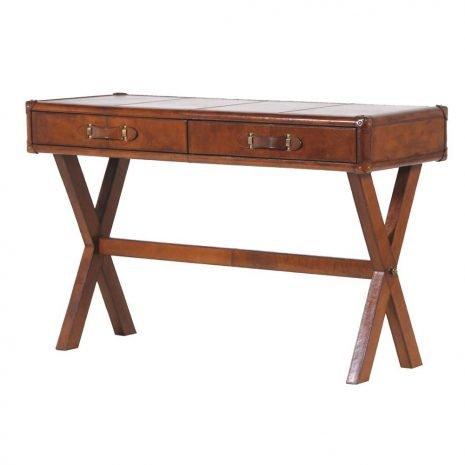 leather trestle dressing desk