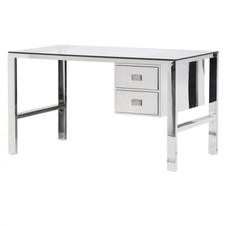 steel and glass desk