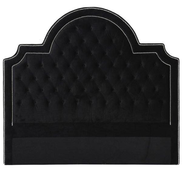 black velvet headboard