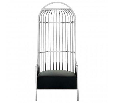 eliza silver cage chair
